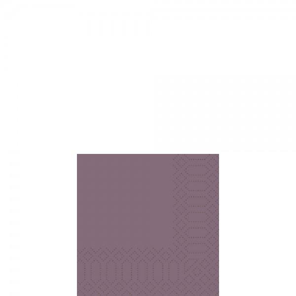 DUNI Cocktailserviette 24x24 cm 3-lagig plum