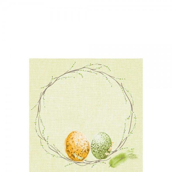 DUNI Zelltuch Serviette 33x33 cm 1/4F. Easter Pasture