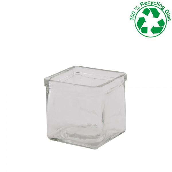 Vase glas quadratisch 10x10x10cm