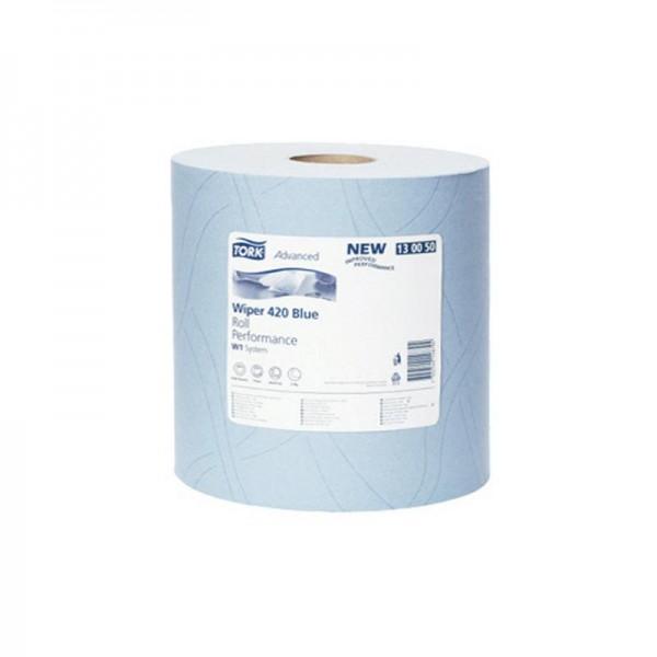 Reinigungstücher 2 lagig blau TORK 130050