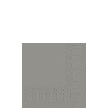 Fasana Cocktailserviette 24x24cm 1/4F. grau