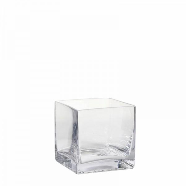 Glas Vase viereckig 8x8x8cm