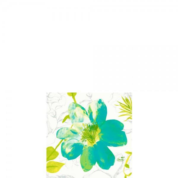 DUNI Zelltuch Serviette 24x24cm 1/4F. Summertime Blue