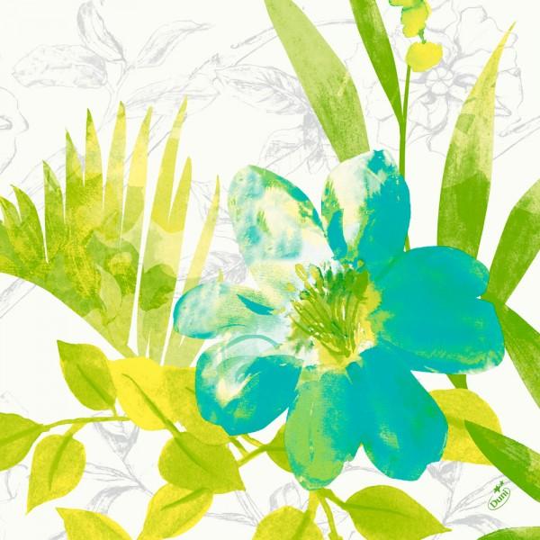 DUNI Klassik Serviette 40x40cm 1/4F. Summertime Blue
