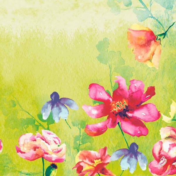 DUNI Klassik Serviette 40x40cm 1/4F. Garden Joy