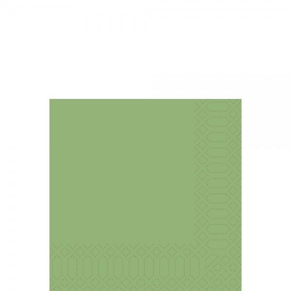 DUNI Zelltuch Serviette 33x33 cm 1/4F. leaf green