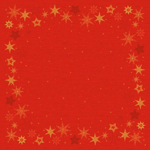 DUNI Mitteldecke 84x84cm Star Stories Red