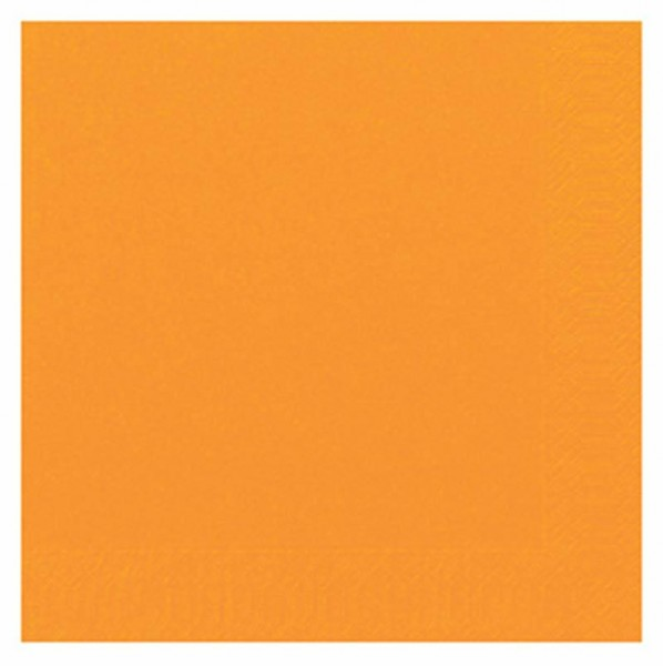 DUNI Zelltuch Serviette 33x33 cm 1/4F. orange