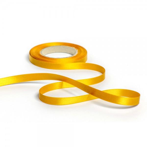 Geschenkband mit Druck 10mm breit 100 Meter goldgelb