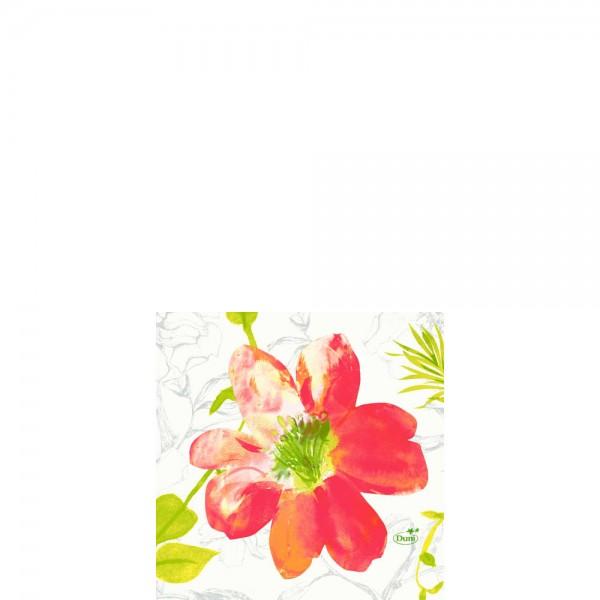 DUNI Zelltuch Serviette 24x24cm 1/4F. Summertime Red