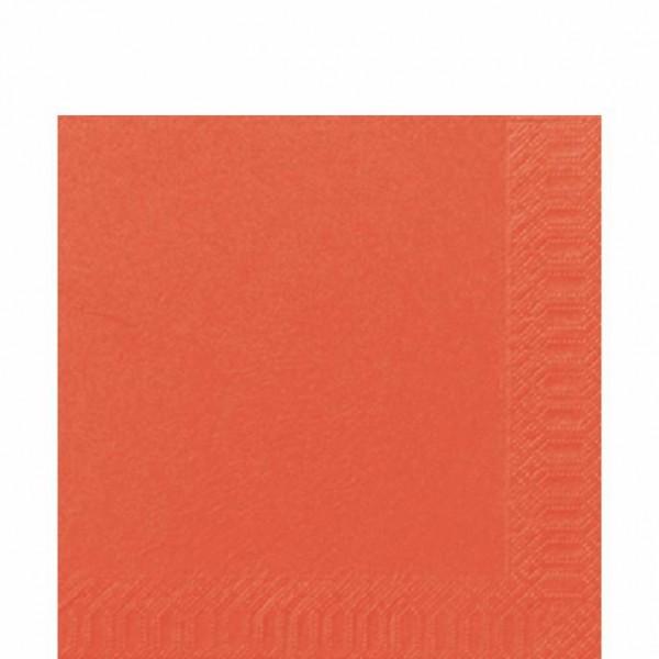 DUNI Zelltuch Serviette 33x33 cm 1/4F. mandarin