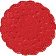 Tassendeckchen rund Ø 7,5 cm rot