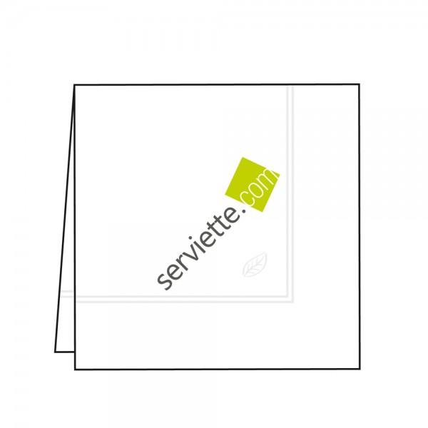 Zelltuchservietten weiß 33x33 cm 1/4 Falz mit Werbedruck