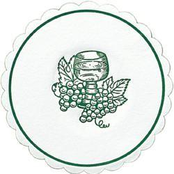 Glasuntersetzer Traube rund Ø 10 cm jägergrün