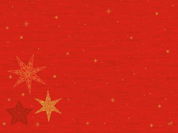 DUNI Tischset Dunicel 30x40 cm Star Stories Red