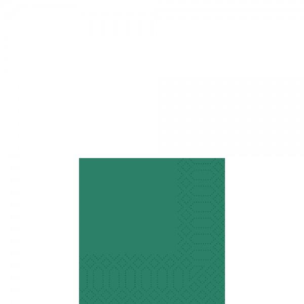 DUNI Cocktailserviette 24x24 cm 3-lagig jägergrün
