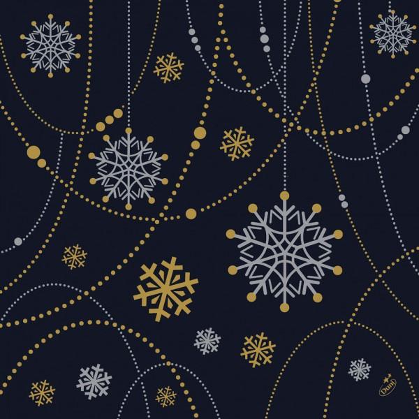 DUNI Dunisoft Serviette 40x40cm 1/4F.Snowflake black