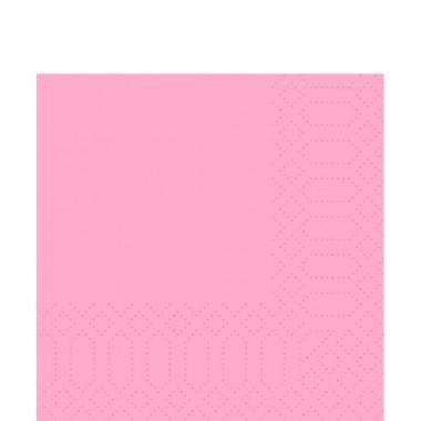 Fasana Zelltuch Serviette 33x33cm 1/4F. rosa