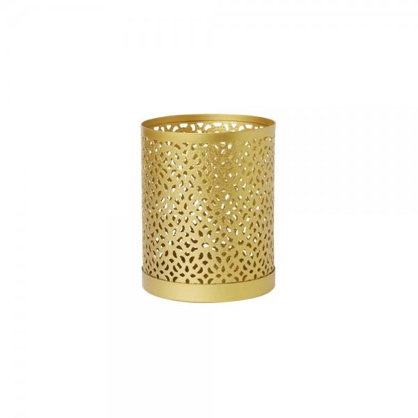 DUNI Kerzenhalter aus Metall 100 x 80 mm Bliss gold