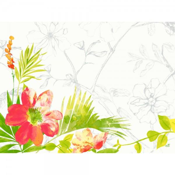 DUNI Tischset Papier 30 x 40 cm Summertime Red