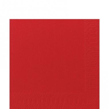 Fasana Zelltuch Serviette 33x33cm 1/4F. rot