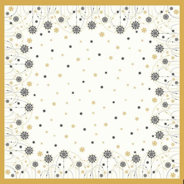 DUNI Mitteldecke 84x84cm Snowflake WHite