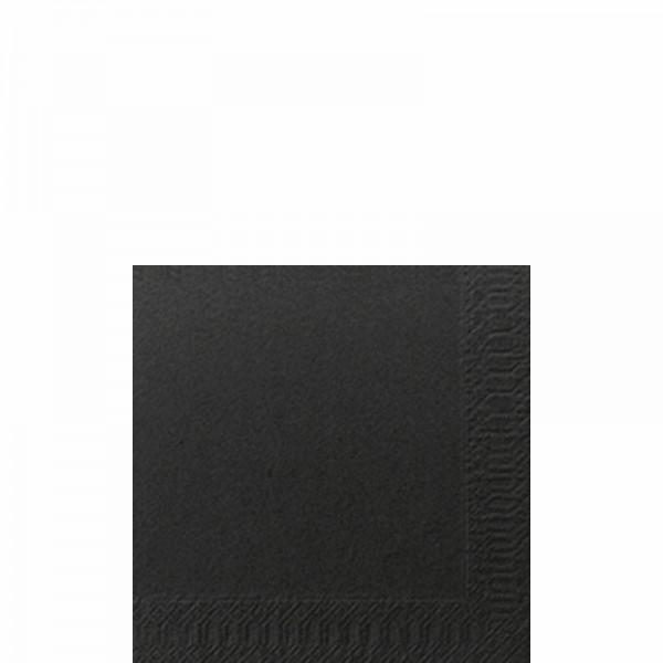 DUNI Cocktailserviette 24x24 cm 3-lagig schwarz