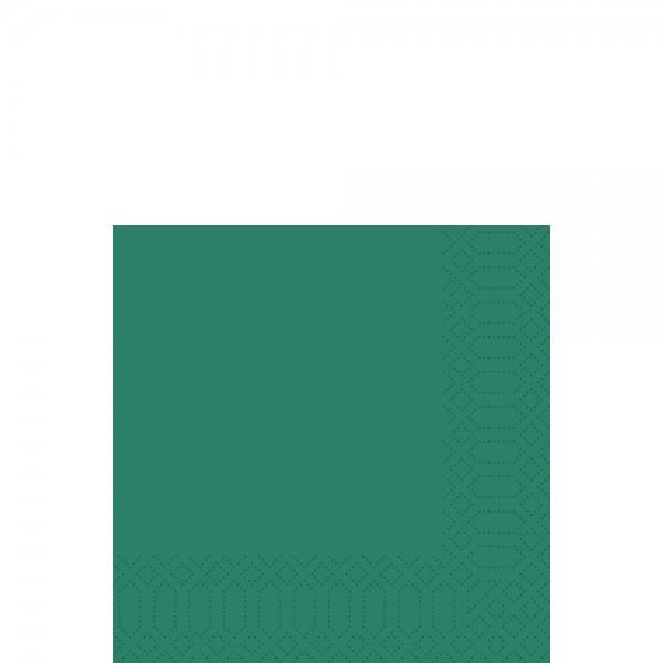 DUNI Zelltuch Serviette 33x33 cm 1/4F. jägergrün
