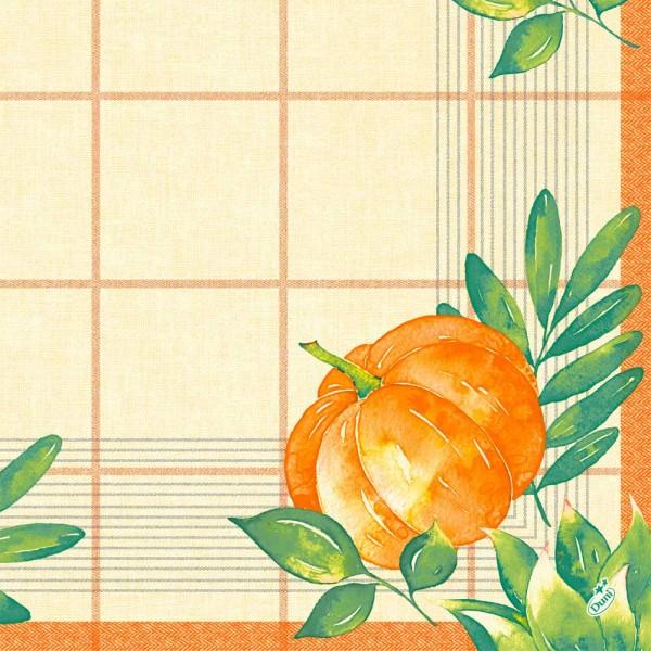 DUNI Zelltuch Serviette 40x40 cm 1/4F.Pumpkin Spice