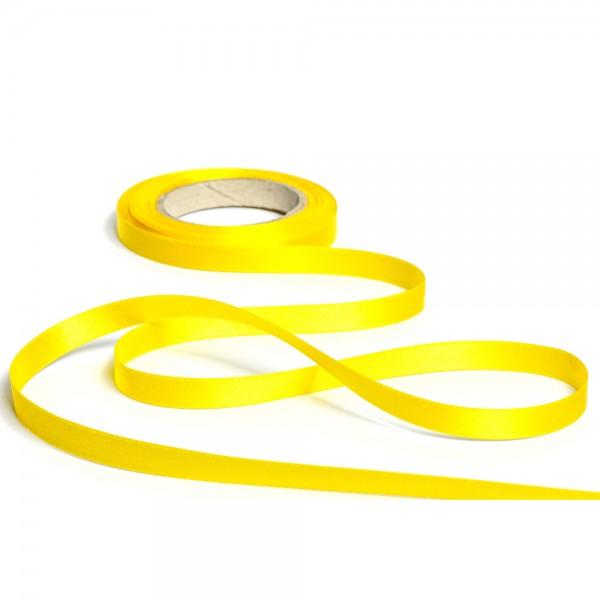 Geschenkband mit Druck 15mm breit 100 Meter sonnengelb