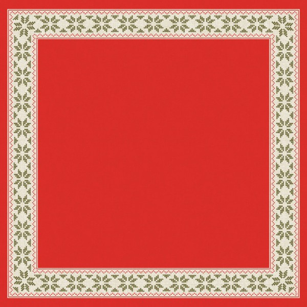 DUNI Mitteldecke 84x84cm Urban Yule Red